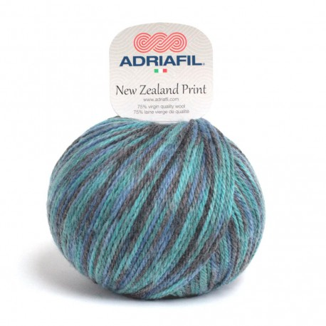 Adriafil New Zealand Print - 25 multicolour blue anthracite grey