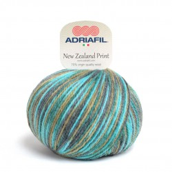 Adriafil New Zealand Print - 47 multicolour green