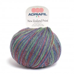 Adriafil New Zealand Print - 48 multicolour green denim wine