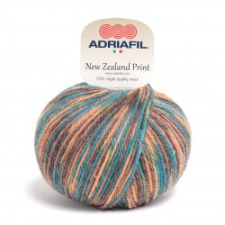 Adriafil New Zealand Print -49 multicolour yellow petrol blue