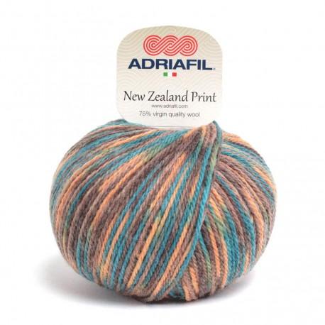 Adriafil New Zealand Print -49 multicolour yellow petrol blue