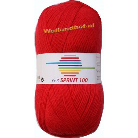 GB Sprint 100 sokkenwol - kleur 278 Rood