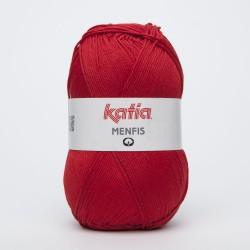 Katia Menfis kleur 28 - Helder rood OP is OP