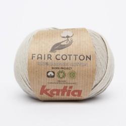 Katia Fair Cotton - Kleur 11 Parelmoer lichtgrijs
