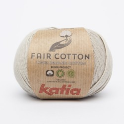 Katia Fair Cotton - Kleur 11 Parelmoer lichtgrijs OP is OP