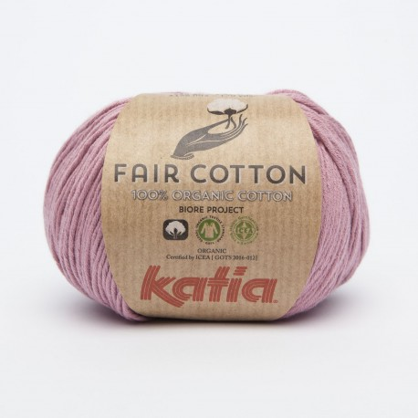 Katia Fair Cotton - Kleur 15 Medium bleekrood