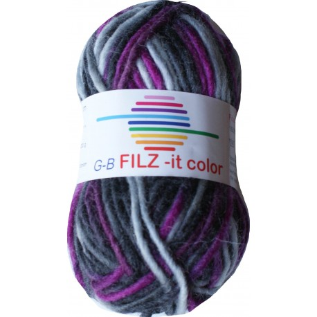 GB FILZ - it Color - 147 Antraciet Fuchsia Grijs