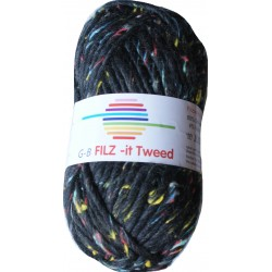 GB FILZ - it Tweed - 300 Zwart