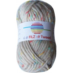 GB FILZ - it Tweed - 301 Creme