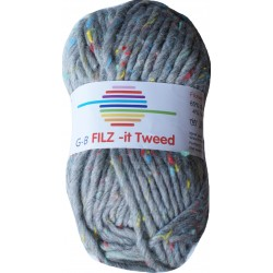GB FILZ - it Tweed - 302 Grijs