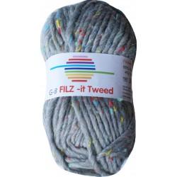 GB FILZ - it Tweed - 302 Grijs