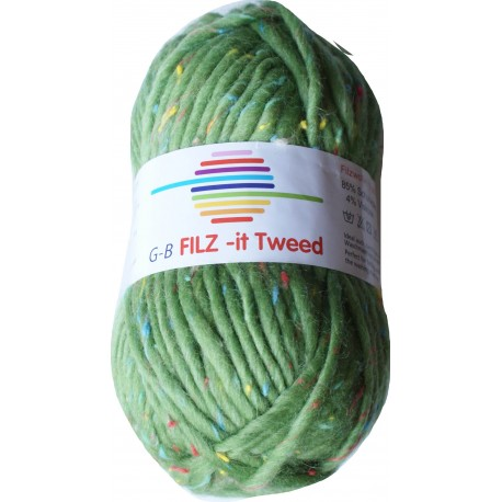 GB FILZ - it Tweed - 305 Groen