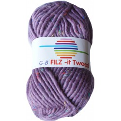 GB FILZ - it Tweed - 306 Paars