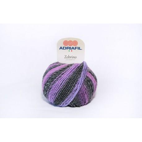 Adriafil Zebrino - 66 Multi Paars Fancy
