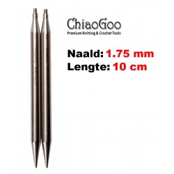 Chiaogoo Verwisselbare Naaldpunten 1.75 - Twist Red Lace Mini (10 cm)