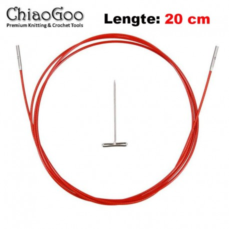 Chiaogoo Twist Red Lace kabel Mini - 20 cm