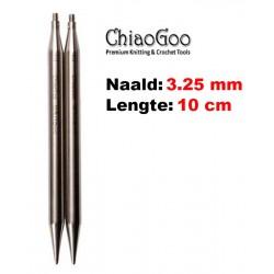 Chiaogoo Verwisselbare Naaldpunten 3.25 - Twist Red Lace Small (10 cm)