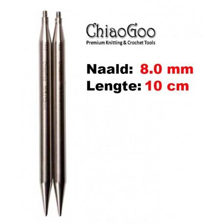 Chiaogoo Verwisselbare Naaldpunten 8.0 - Twist Red Lace Large (10 cm)