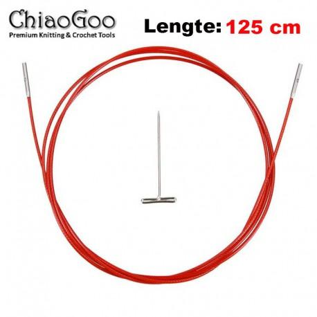 Chiaogoo Twist Red Lace kabel Large - 125 cm