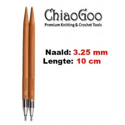 Chiaogoo Verwisselbare Naaldpunten 3.25 - Spin Bamboe Small (10 cm)