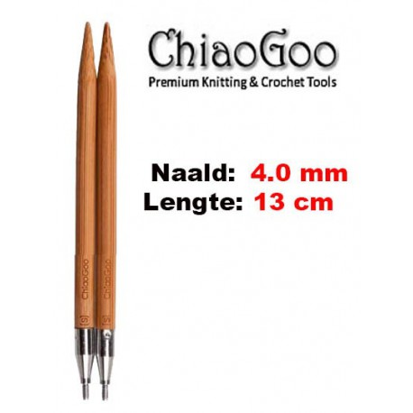 Chiaogoo Verwisselbare Naaldpunten 4.0 - Spin Bamboe Small (13 cm)