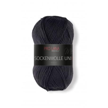Pro Lana Sockenwolle Uni - 402 - Zwart