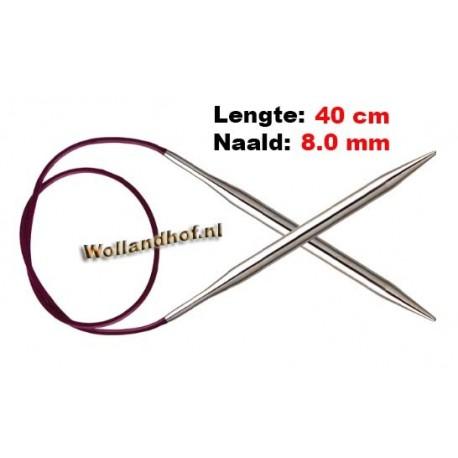 KnitPro Rondbreinaald Nova (metaal) 40 cm 8,0 mm