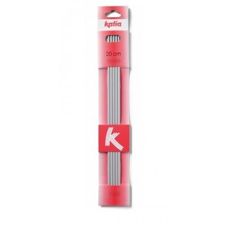 Katia - aluminium sokkennaalden 20 cm 4.0 mm