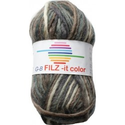 GB FILZ - it Color - 148 Grijs-Bruin-Creme