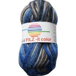 GB FILZ - it Color - 150 Blauw Bruin Grijs