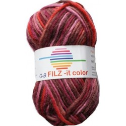 GB FILZ - it Color - 151 Rood-Bruin-Fuchsia