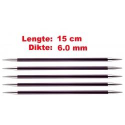 Knitpro Zing 15 cm Sokkennaalden 6.0 mm