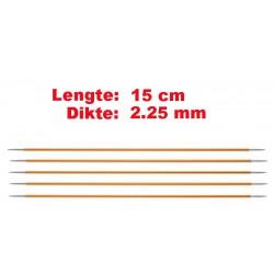Knitpro Zing 15 cm Sokkennaalden 2.25 mm