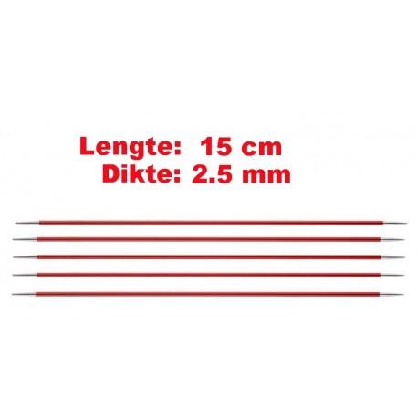 Knitpro Zing 15 cm Sokkennaalden 2.5 mm
