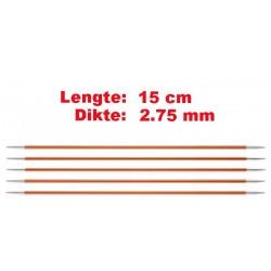 Knitpro Zing 15 cm Sokkennaalden 2.75 mm