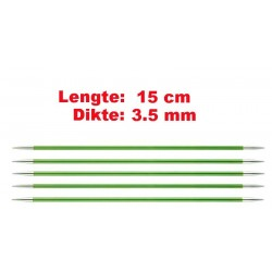 Knitpro Zing 15 cm Sokkennaalden 3.5 mm