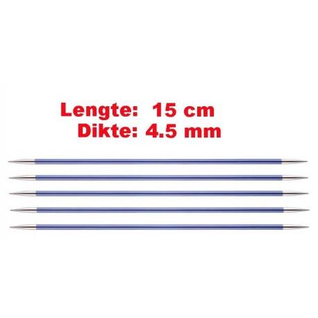 Knitpro Zing 15 cm Sokkennaalden 4.5 mm