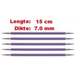 Knitpro Zing 15 cm Sokkennaalden 7.0 mm