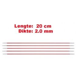 Knitpro Zing 20 cm Sokkennaalden 2.0 mm