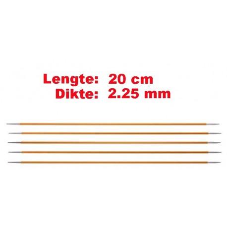 Knitpro Zing 20 cm Sokkennaalden 2.25 mm