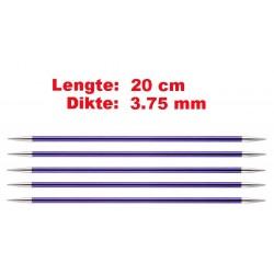 Knitpro Zing 20 cm Sokkennaalden 3.75 mm