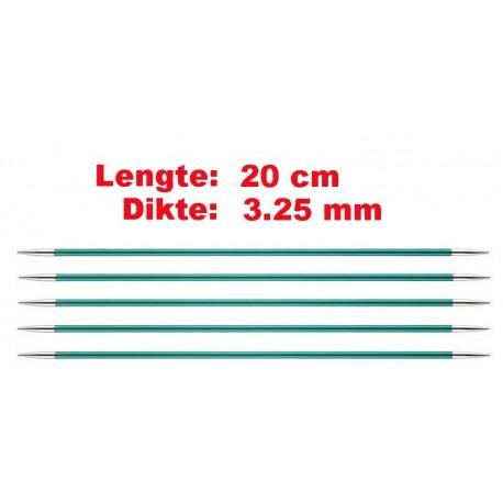 Knitpro Zing 20 cm Sokkennaalden 3.25 mm