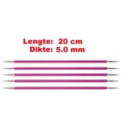 Knitpro Zing 20 cm Sokkennaalden 5.0 mm