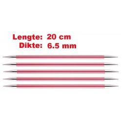 Knitpro Zing 20 cm Sokkennaalden 6.5 mm