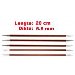Knitpro Zing 20 cm Sokkennaalden 5.5 mm