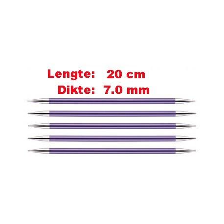 Knitpro Zing 20 cm Sokkennaalden 7.0 mm