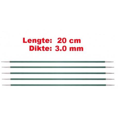 Knitpro Zing 20 cm Sokkennaalden 3.0 mm