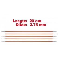 Knitpro Zing 20 cm Sokkennaalden 2.75 mm