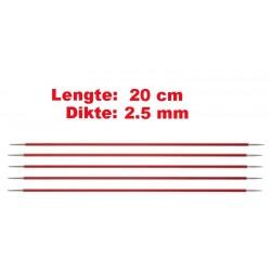 Knitpro Zing 20 cm Sokkennaalden 2.5 mm