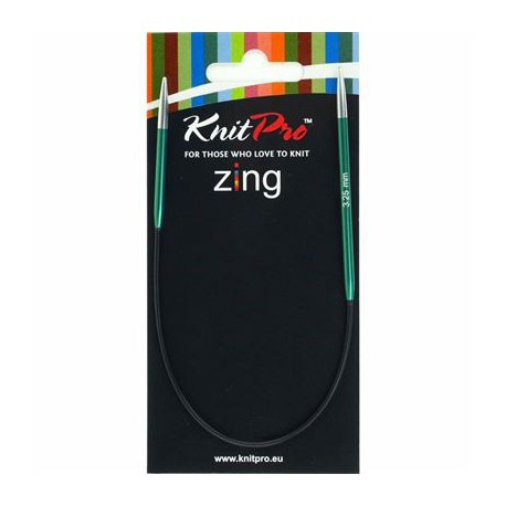 Knitpro Zing 25 cm Rondbreinaaldjes - Sokkennaaldjes - 3.25